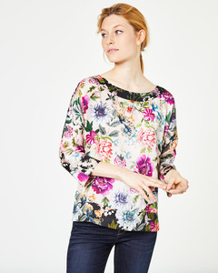 2-in-1-Bluse mit Blumendruck