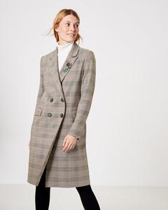 Mantel mit Glencheck-Karo