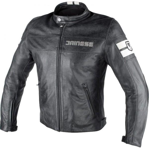 Dainese            HF D1 Lederjacke schwarz