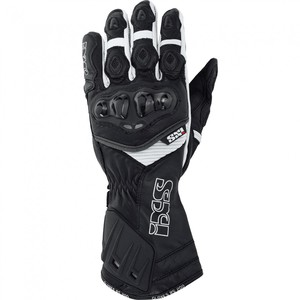 IXS            RS-200 Leder-Sporthandschuh schwarz/weiß