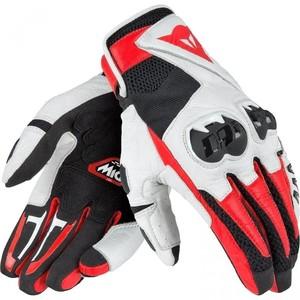 Dainese            Mig C2 Lederhandschuh schwarz/weiß/rot