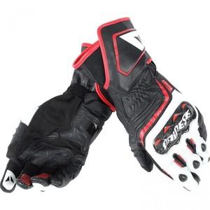 Dainese            Carbon D1 Lederhandschuh lang schwarz/weiß/rot