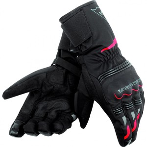Dainese            Tempest D-Dry Textilhandschuh lang schwarz/rot