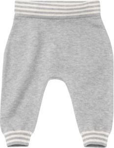 ALANA Baby-Strickhose, Gr. 62, in Bio-Baumwolle und Wolle, hellgrau, für Mädchen und Jungen