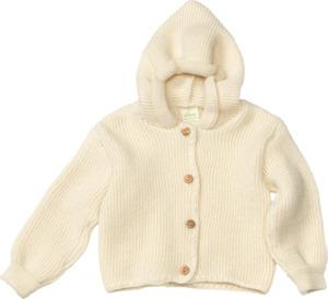 ALANA Baby-Kapuzenjacke, Gr. 74, in Bio-Schurwolle, natur, für Mädchen und Jungen