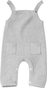 ALANA Baby-Stricklatzhose, Gr. 56, in Bio-Baumwolle, grau, für Mädchen und Jungen