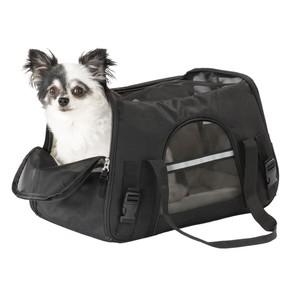 Hundetasche, Polyester, 47 x 31 cm, schwarz