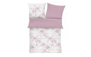 Ibena - Bettwäsche Zeitgeist in rosa/weiß, 135 x 200 cm