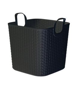 Kunststoff-Flexikorb, 43 Liter, schwarz