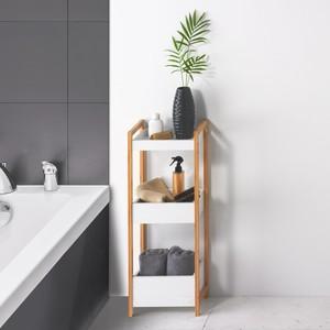 Regal, 3 Ebenen, Bambus/Holz, 28 x 74 x 20 cm