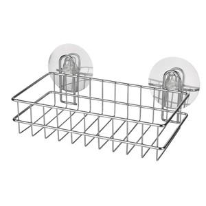 Wenko Static-Loc Duschkorb, ohne Bohren, Metall, 26 x 9,5 x 14 cm