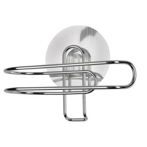 Wenko Static-Loc Toilettenpapierhalter, ohne Bohren, Metall, 11,5 x 10,5 x 9 cm