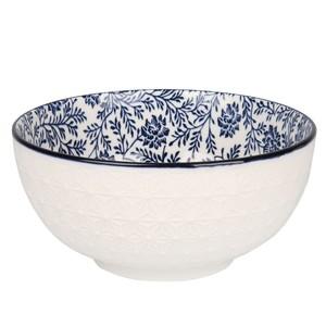 Design-Schale, Keramik, Blumenmotiv, 15 x 7 x 15 cm, 600 ml