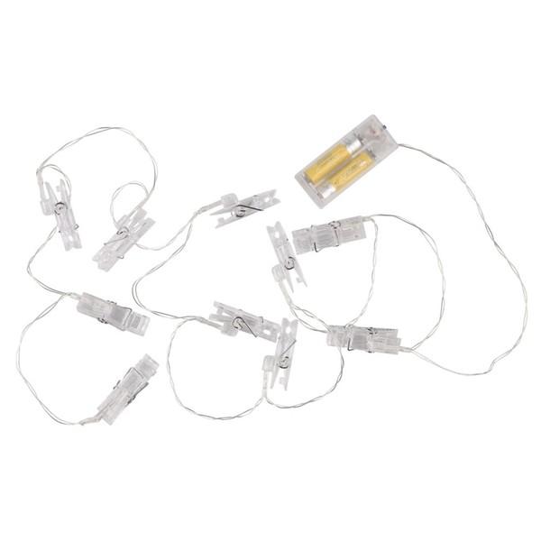 Lichterkette, Wäscheklammern, LED, 165 cm
