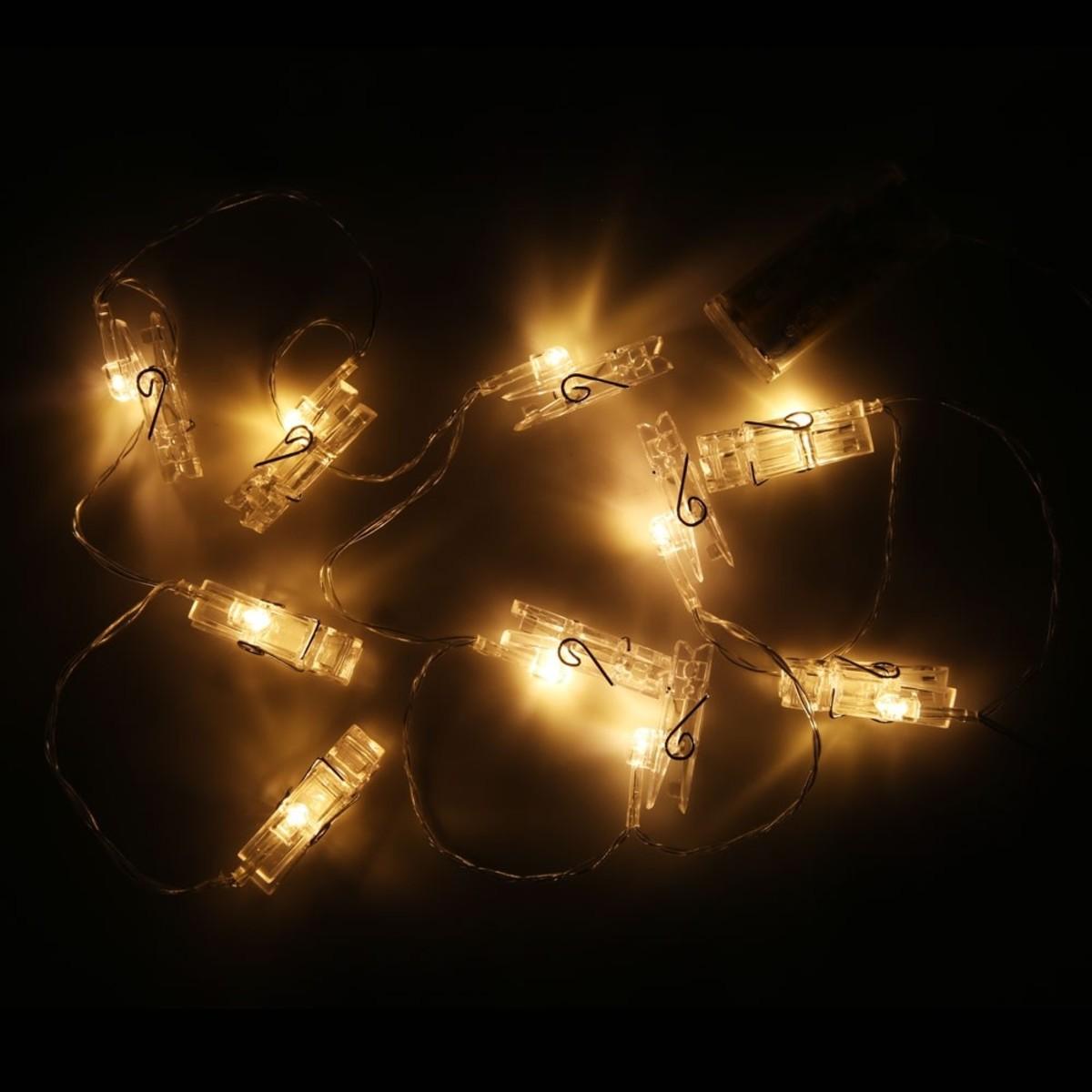 Bild 2 von Lichterkette, Wäscheklammern, LED, 165 cm