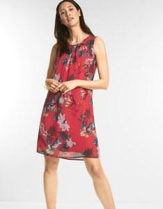 Street One - ärmelloses Kleid mit tropischem Druck
