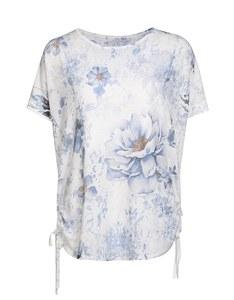 My Own - Shirt mit Blumendruck und seitlichen Raffungen