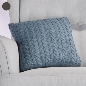 Strickgarn-Set, Kissen, Nadelstärke 5-6, 70 m, 50 g, blau