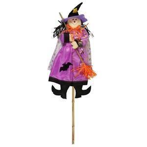 Halloween-Vogelscheuche Hexe lila