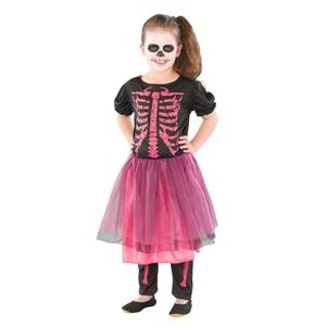 Halloween Kinderkostüm Skelett Mädchen