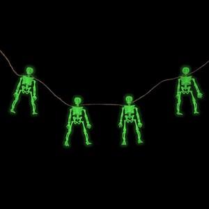 Leuchtende Skelett-Girlande