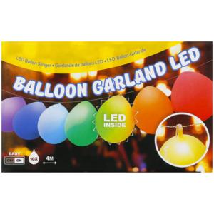 Ballongirlande mit LED-Beleuchtung