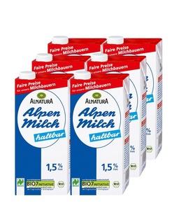 6 x Haltbare Alpenmilch 1,5%