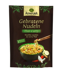 Gebratene Nudeln Thai-Curry