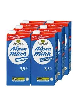 6 x Haltbare Alpenmilch 3,5%