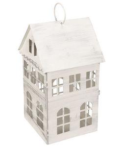 Laterne - Haus mit Fenstern - ca. 15 x 30 cm
