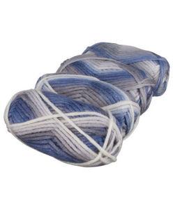 Strickgarn - meliert - 200 g, 4er-Pack