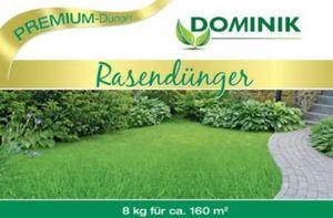 Dominik Gartenparadies DOMINIK Rasendünger in Gärtner-Qualität, organisch-mineralisch 12+3+6, 8 kg, Frühjahrsdünger