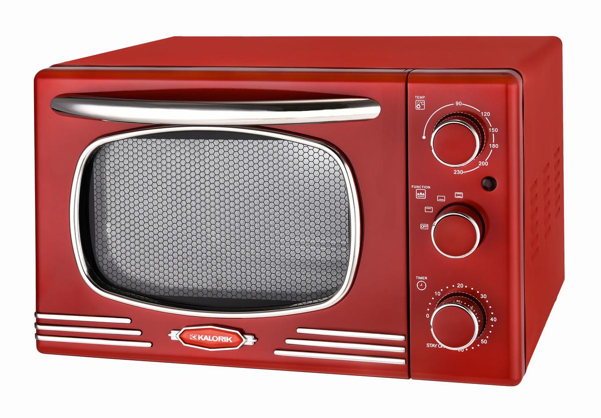 Bild 1 von Kalorik Retro-Multiofen 19,5 Liter Design-Miniofen TKG OT 2500 R Tischbackofen rot