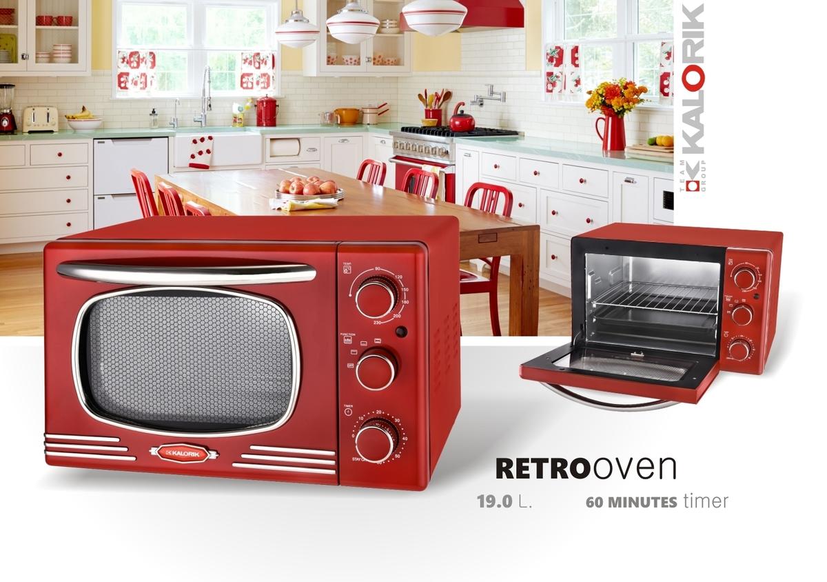 Bild 2 von Kalorik Retro-Multiofen 19,5 Liter Design-Miniofen TKG OT 2500 R Tischbackofen rot