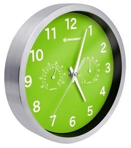 Bresser® MyTime Quarz Thermo-/ Hygro- Wanduhr 25cm grün