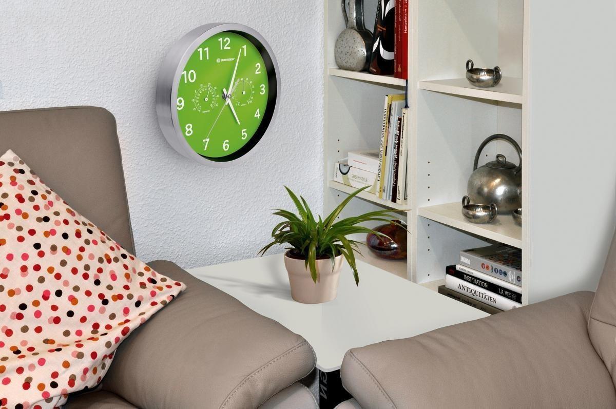 Bild 3 von Bresser® MyTime Quarz Thermo-/ Hygro- Wanduhr 25cm grün