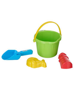 Sandspielzeug - Eimer, Schaufel, Förmchen - 4-tlg. Set