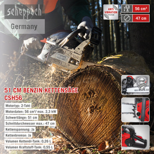 Scheppach Benzin-Kettensäge CSH56