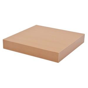 Trendstabil Schwebendes Wandregal, Bücherregal selbsttragend, 23,5 x 23,5 cm, buche