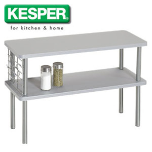 Küchenregal - in Weiß oder Grau - Maße: ca. H 38 x B 55 x T 20 cm