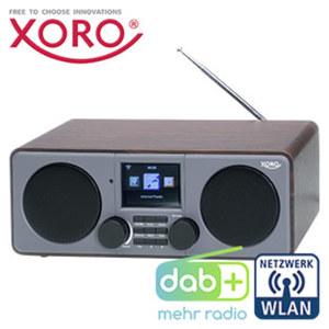 DAB+-WLAN-Internet-Radio DAB 600 IR 7,1-cm-LCD-Farb-Display, FM-Radio, 2 Weckzeiten, Wettervorhersage, MP3-Streaming, USB-/Aux-/Kopfhörer-Anschluss, inkl. IR-Fernbedienung und Netzadapter
