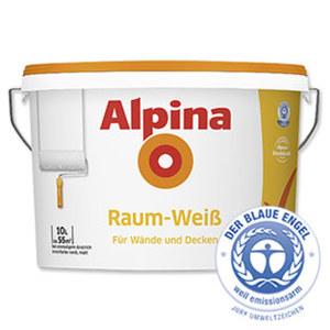 Alpina Raumweiß 10 Liter, Reichweite: ca. 55 m²