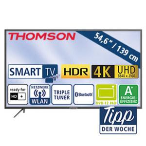 """54,6""""-Ultra-HD-LED-TV 55UC6406 • Auflösung 3840 x 2160 Pixel, HbbTV, H.265 • 3 HDMI-Eingänge, USB 2.0, USB 3.0, CI+ • Stand-by: 0,29 Watt, Betrieb: 86 Watt • Maße: H 72,3 x B 124,9 x T 7,6"""