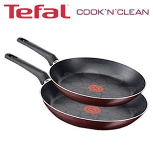 "Pfannen-Set ""Cook'n'Clean"" - 2-teilig - TEFAL-Superglide Antihaft-Beschichtung - ca. 24 und 28 cm Ø"