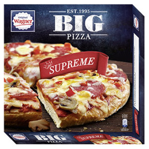 Original Wagner Big Pizza BBQ Chicken gefroren, jede 425-g-Packung und weitere Sorten