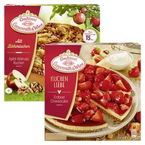 Coppenrath & Wiese Alt-Böhmische Kuchen oder Kuchenliebe gefroren, versch. Sorten,  jede 1100-g-Packung