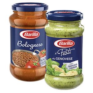 Barilla Pasta Sauce Bolognese, Ricetta Speciale oder Pesto versch. Sorten, jedes 195/400/175/190/200-g-Glas