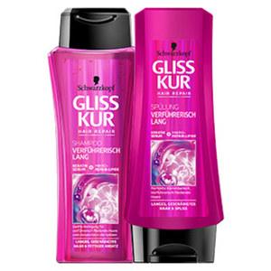 Gliss Kur Shampoo oder Spülung versch. Sorten, jede 200/250-ml-Flasche