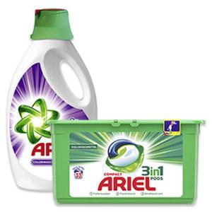 Ariel Waschmittel 33/40 Waschladungen, versch. Sorten, jede Packung/Flasche