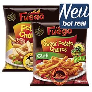 Fuego Sweet Potato Churros gefroren, jeder 450-g-Beutel und weitere Sorten